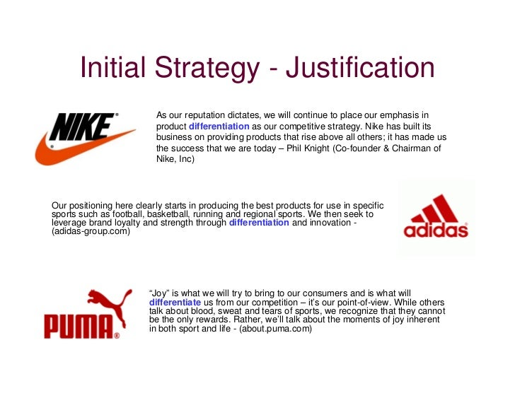 Differentiation Strategy Nike Athletic Shoes