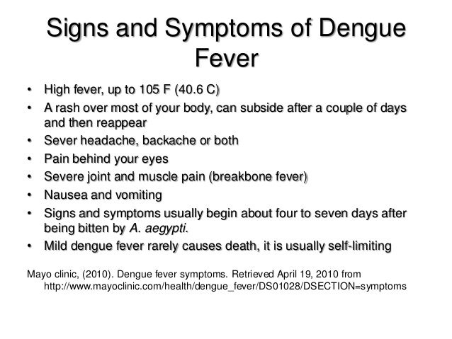 dengue fever mild Dengue fever dengue is the worrying or warning signs that you can see in a patient after the fever has abated can indicate that this mild dengue has.