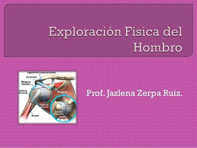 Prof. Jazlena Zerpa Ruiz.
