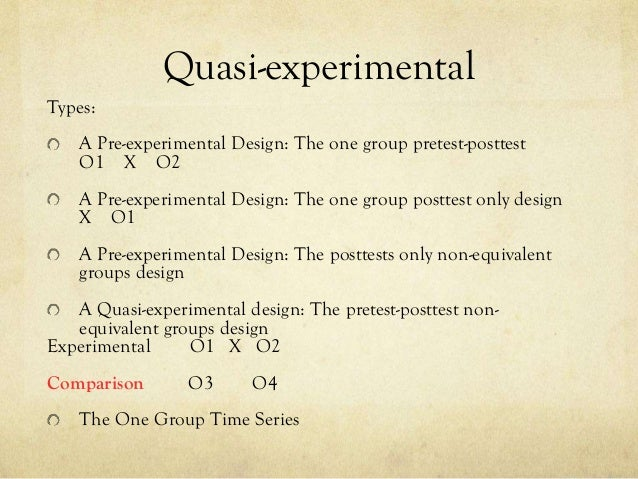 Experimental Quasi Experimental Single Case And