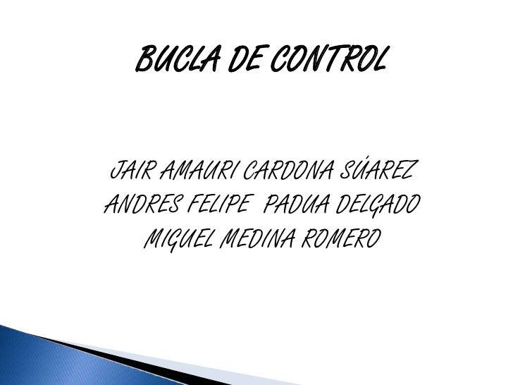 BUCLA DE CONTROLJAIR AMAURI CARDONA SÚAREZANDRES FELIPE PADUA DELGADO   MIGUEL MEDINA ROMERO
