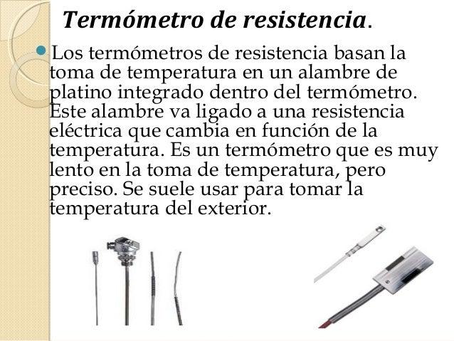 Instrumentos de medicion electrica - Medidor de temperatura ...