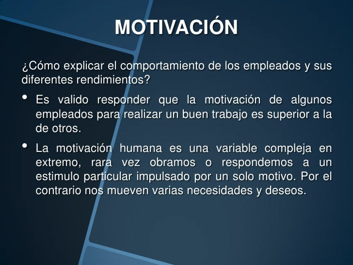 Exp Motivacion