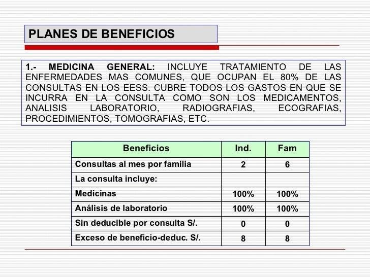 1.- MEDICINA GENERAL:  INCLUYE TRATAMIENTO DE LAS ENFERMEDADES MAS COMUNES, QUE OCUPAN EL 80% DE LAS CONSULTAS EN LOS EESS...