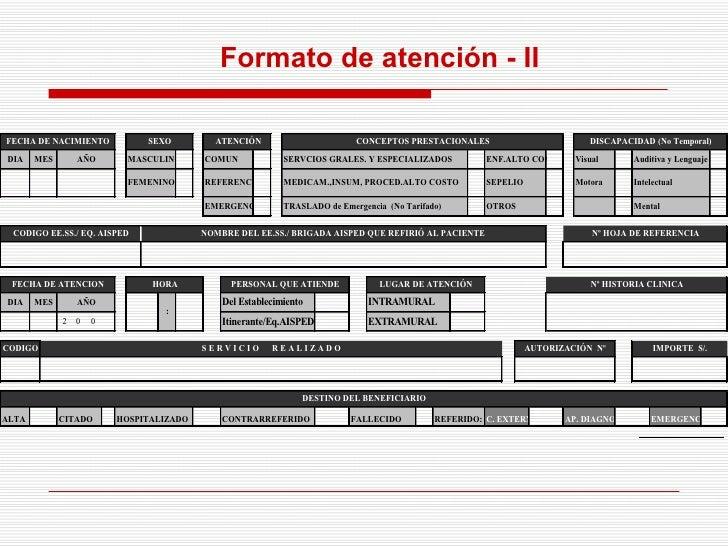 Formato de atención - II