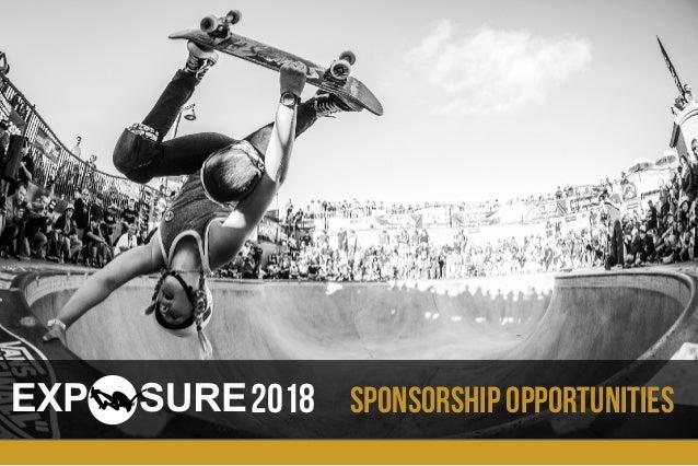 Sponsorship opportunities2018