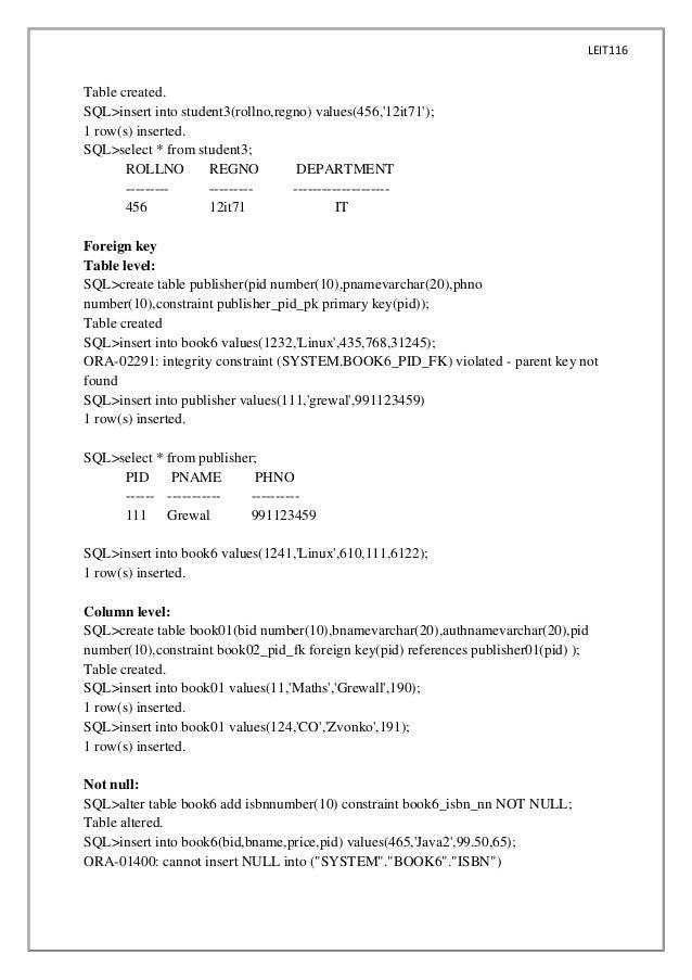 dbms lab 1 term paper academic service rh gressayydrt tv1897kallenhardt info General Chemistry Lab Manual Lab Manual Fossils