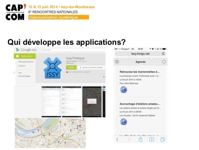 6E  RENCONTRES NATIONALES Qui développe les applications?