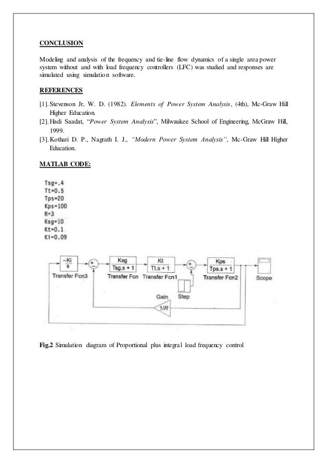 Exp 8 (1)8  Load-frequency dynamics of single area power system