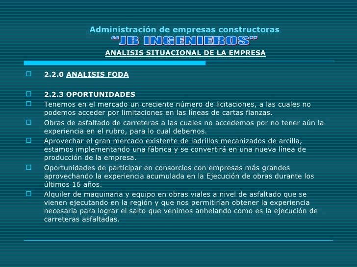 Exp administracion constructoras for Empresas constructoras