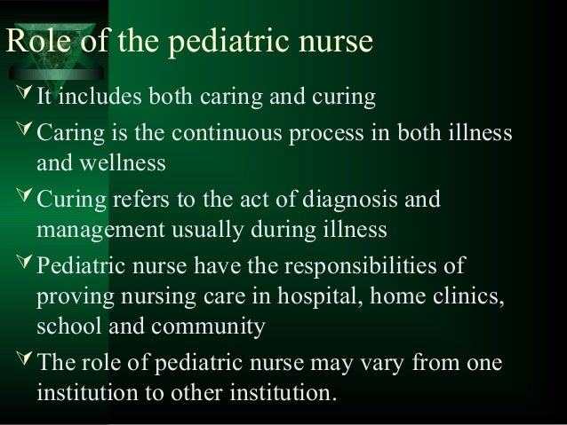 Expanded and extended role of pediatric nurse