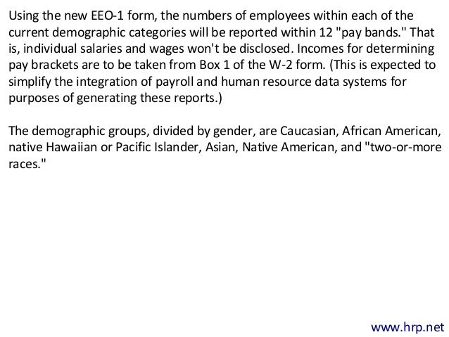 Expanded EEO-1 Form Means New Responsibilities for Employers