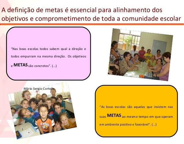 """A definição de metas é essencial para alinhamento dos objetivos e comprometimento de toda a comunidade escolar  """"Nas boas ..."""