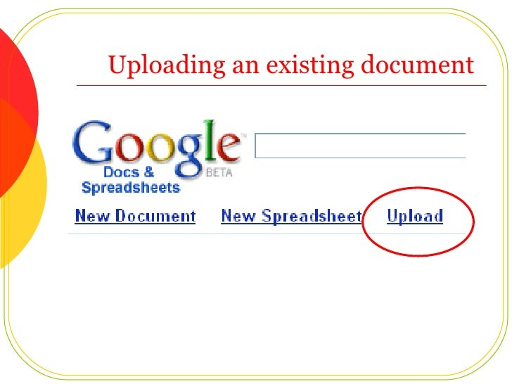 Uploading an existing document
