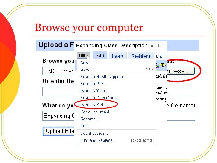 Browse your computer