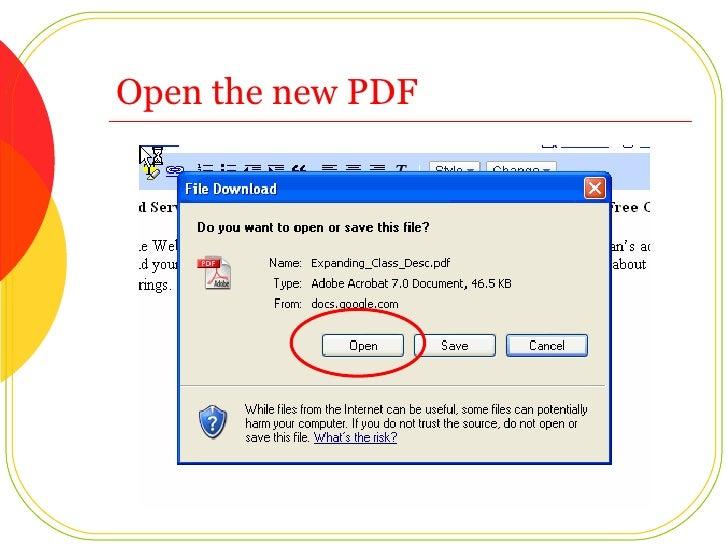 Open the new PDF