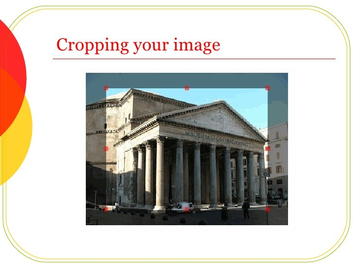 Cropping your image