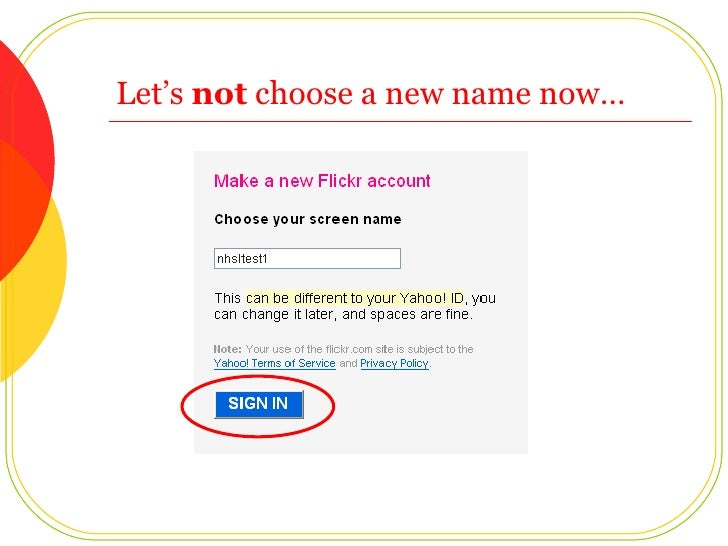 Let's  not  choose a new name now…