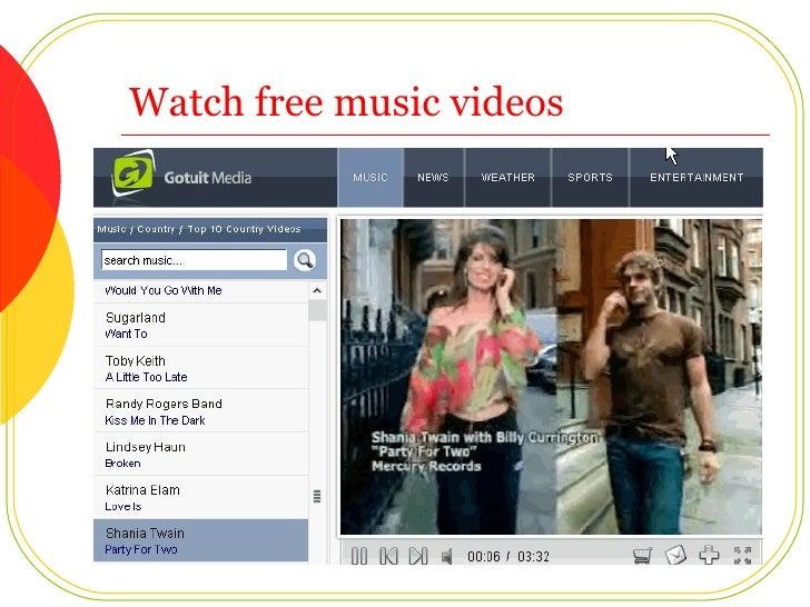 Watch free music videos