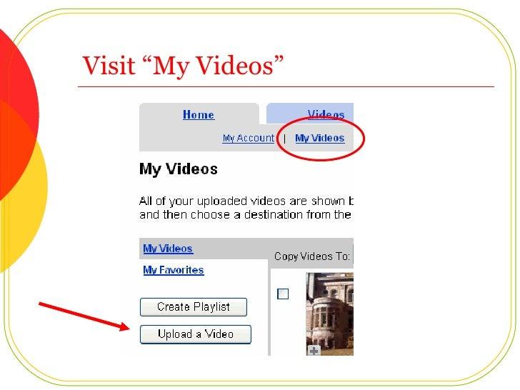 "Visit ""My Videos"""