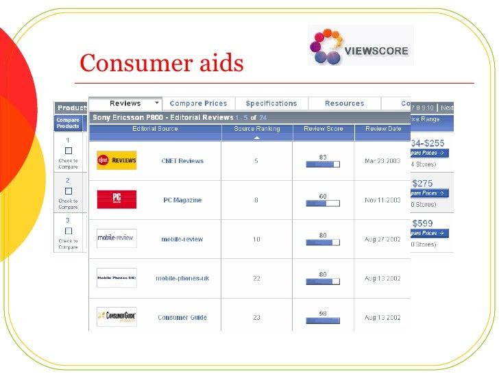 Consumer aids
