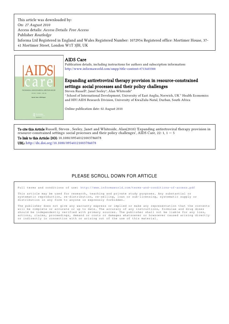 This article was downloaded by: On: 27 August 2010 Access details: Access Details: Free Access Publisher Routledge Informa...