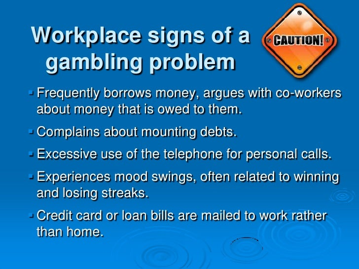 Sign of gambling addiction the riviera hotel & casino