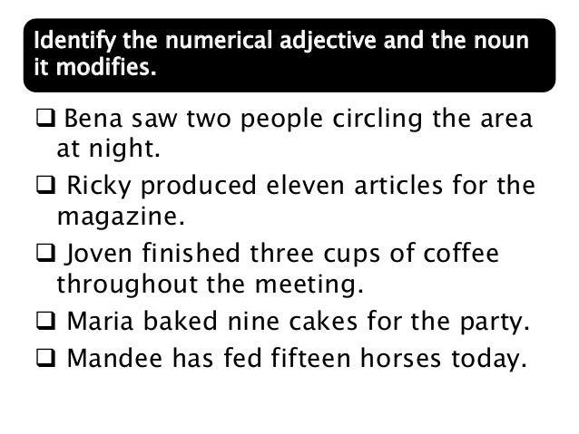 Expanding Sentences Through Noun Modification