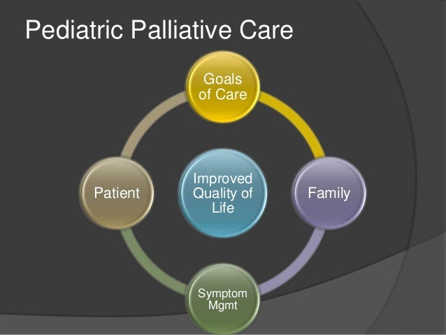 pediatric palliative care Optimizing the quality of medical care at the end of life has achieved national status as an important health care goal palliative care, a comprehensive approach to.