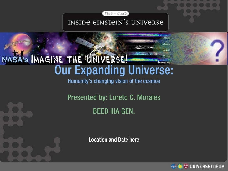 Structure and Evolution of the Universe  Workshop  Our Expanding Universe: Humanity's changing vision of the cosmos Presen...