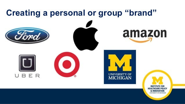 """Creating a personal or group """"brand"""""""