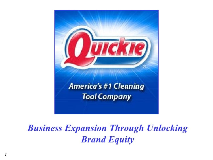 Business Expansion Through Unlocking                Brand Equity1