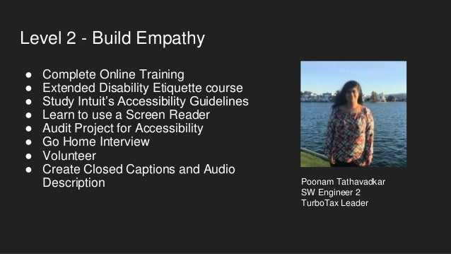 Level 3 - Subject Matter Experts ● Create Documentation for Project ● Deliver Accessibility Training ● Coordinate Team Go-...