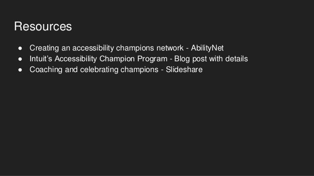 Expand your outreach with an accessibility champions program
