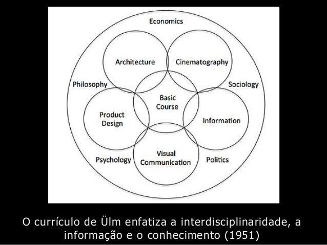 O currículo de Ülm enfatiza a interdisciplinaridade, a informação e o conhecimento (1951)