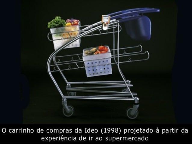 O carrinho de compras da Ideo (1998) projetado à partir da experiência de ir ao supermercado
