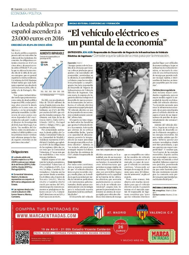 28 Expansión Lunes 16 abril 2012ECONOMÍA/ POLÍTICALa deuda pública por                                                   U...