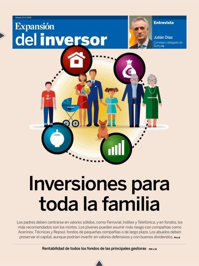 Sabado 23/1/2016     Í P'.  Entrevista I  Expansión  ' del inversor ñ.  .. ... .  Julián Díaz  Conseiero delegado de Dufry...