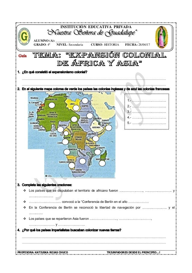 Mapa Colonial De Africa.Expansion Colonial De Africa Y Asia