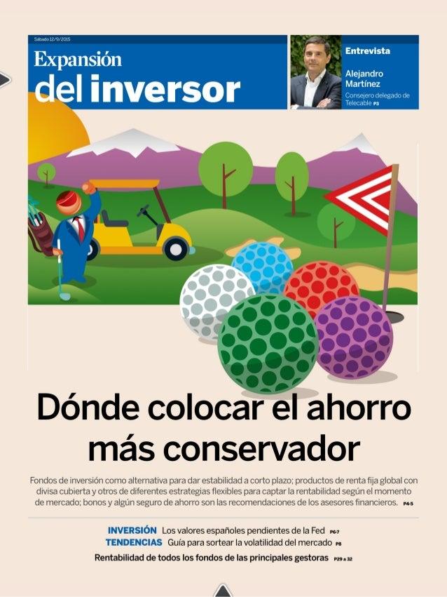 Puna-Im del inversor  sabadu 12/9/2015  O4  ESTA SEMANA  PROPUESTAS PARA INVERSORES DE BAJO RIESGO  Alternativas de ahorro...