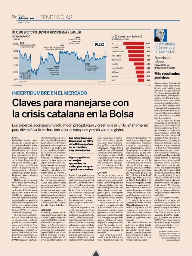 Claves para manejarse con la crisis catalana en la bolsa