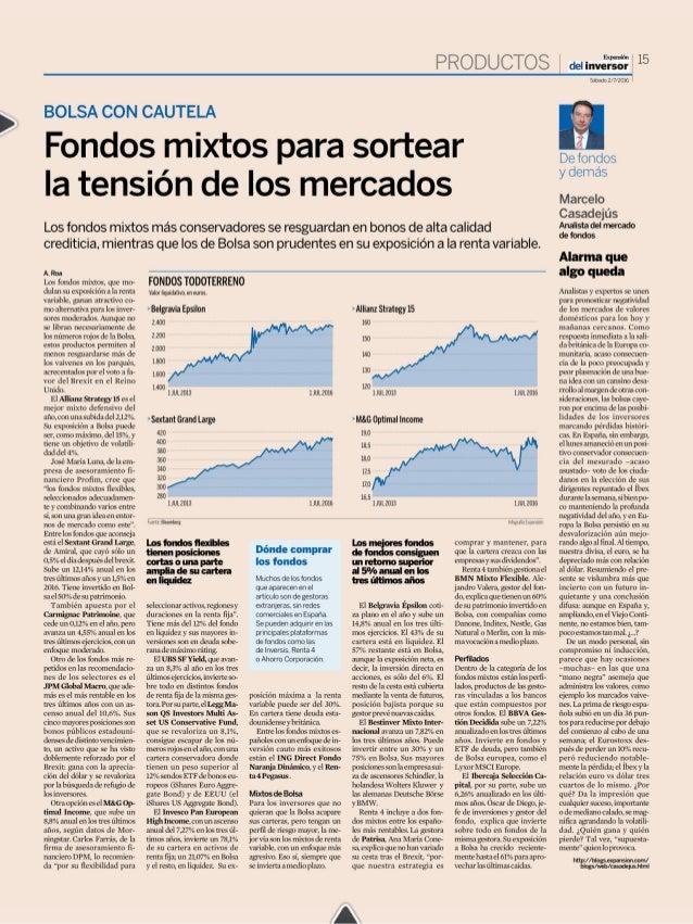 Fondos mixtos para sortear la tension de los mercados