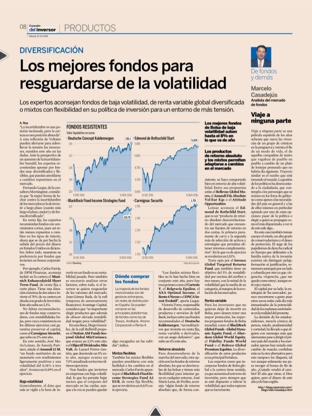 Los mejores fondos para resguardarse de la volatilidad