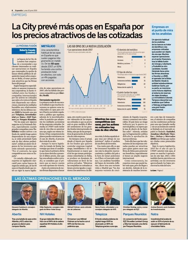 Estudio de Comunicación asesora a cuatro de las seis grandes últimas operaciones financieras en España