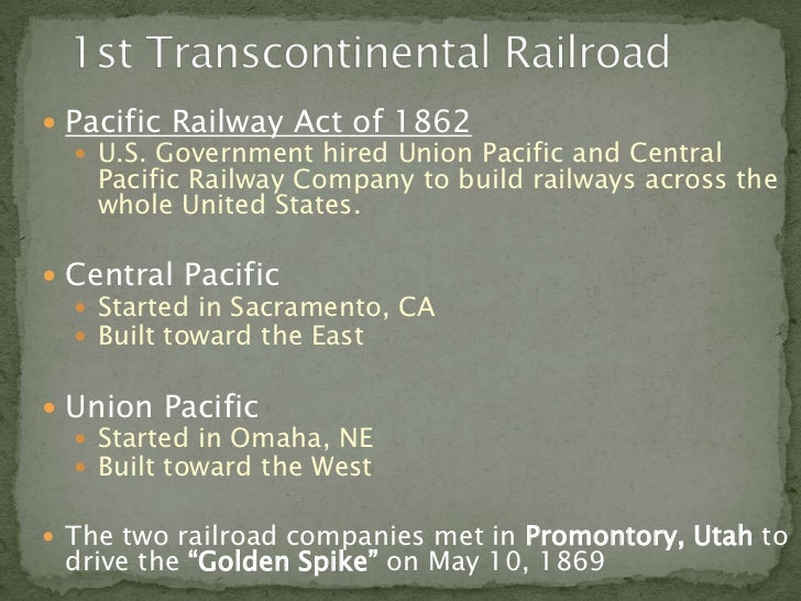 All Aboard: Making Connections with the Transcontinental Railroad