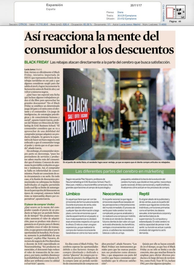 20/11/17Expansión España Prensa: Diaria Tirada: 36.629 Ejemplares Difusión: 23.452 Ejemplares Página: 44 Sección: OTROS Va...