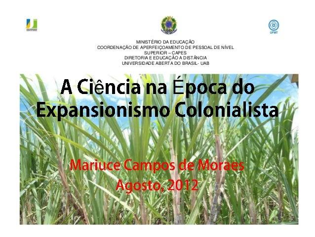 MINISTÉRIO DA EDUCAÇÃOCOORDENAÇÃO DE APERFEIÇOAMENTO DE PESSOAL DE NÍVEL                 SUPERIOR – CAPES         DIRETORI...