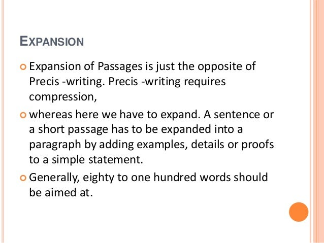 expansion of passages