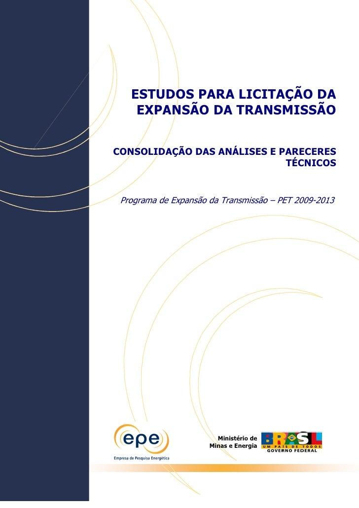 Programa de Expansão da Transmissão  EPE