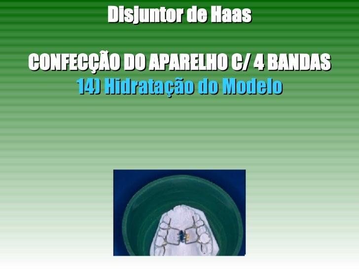 Disjuntor de Haas CONFECÇÃO DO APARELHO C/ 4 BANDAS 14) Hidratação do Modelo